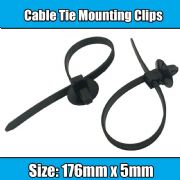 10x Cable Ties For Car Boat Trailer 176mm Reusable Clip Mounting Cable Zip Ties